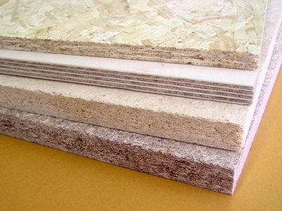 Wood-based materials (chipboard, plywood, fiberboard)