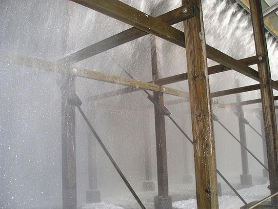 Nadelholz im Kühlturmbau – dauerhaft geschützt durch Kesseldruckimprägnierung