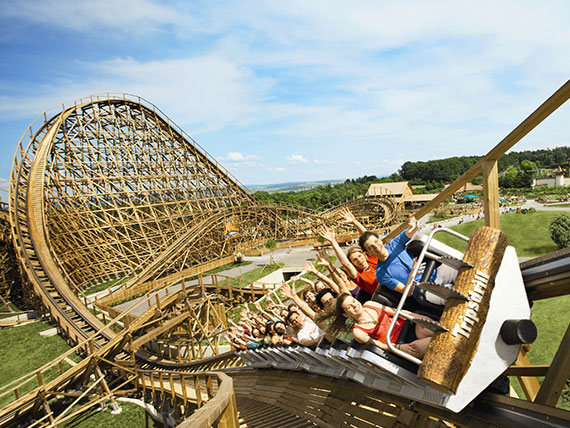 """The """"Mammut"""" roller coaster at Tripsdrill Adventure Park is maintained by Wolman products"""